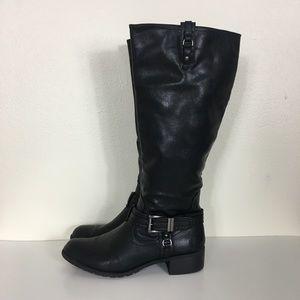 Rampage Black Idera Low Heel Riding Boots